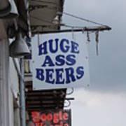 Bourbon Street Signs Art Print
