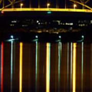 Bourne Bridge At Night Cape Cod Print by Matt Suess