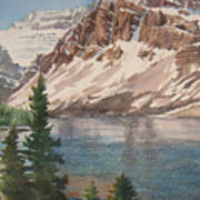 Bow Lake Alberta Art Print