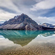 Bow Lake Reflection From Num-ti-jah Lodge  Art Print