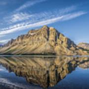 Bow Lake Sunrise Banff National Park Alberta  Canada  Art Print