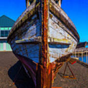 Bow Of Old Worn Boat Art Print