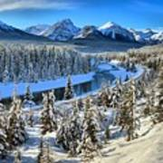 Bow Valley Winter View Art Print