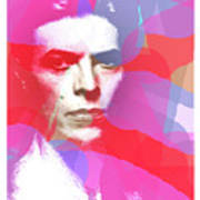 Bowie 70s Chic  Art Print