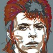 Bowie As Ziggy Art Print by Suzanne Gee