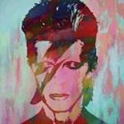 Bowie Reflection Art Print