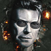 Bowie With Glasses Art Print