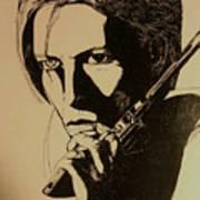 Bowie's Got A Gun Art Print