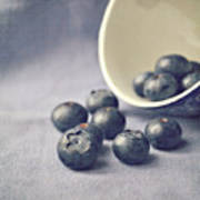 Bowl Of Blueberries Art Print