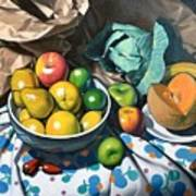 Bowl Of Friut Art Print by Kevin Lawrence Leveque