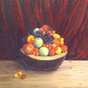 Bowl Of Fruits Art Print