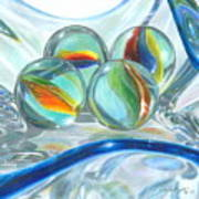 Bowl Of Marbles Art Print