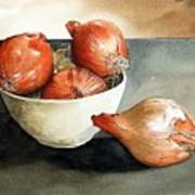 Bowl Of Onions Art Print