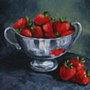Bowl Of Strawberries  Art Print