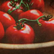 Bowl Of Tomatoes Art Print by Toni Hopper