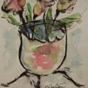 Bowl Vase Art Print