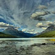 Bowman Lake Montana Art Print