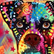 Boxer Cubism Art Print by Dean Russo