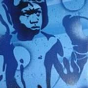 Boxer In Blue Art Print