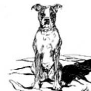 Boxer In The Dirt Art Print