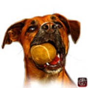 Boxer Mix Dog Art - 8173 - Wb Art Print by James Ahn