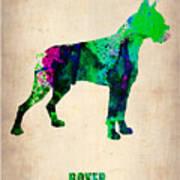Boxer Poster Art Print by Naxart Studio