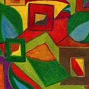 Boxesleaves1 Art Print