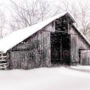 Boxley Snow Barn Art Print