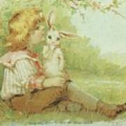 Boy And Rabbit Art Print
