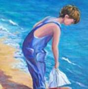 Boy At The Beach Art Print