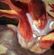 Boy Falling Art Print