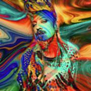 Boy George Digital Art Art Print