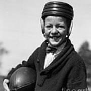 Boy In Old-fashioined Football Gear Art Print