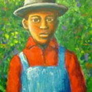 'boy In The Woods' Art Print
