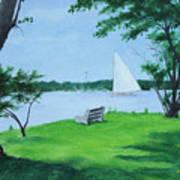 Boy Scout Island Art Print