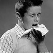 Boy Sneezing Art Print