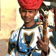 Boy With A Flute Art Print
