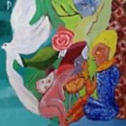 Boy With Empanadilla In His Hand Art Print