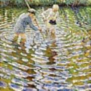 Boys Fishing For Minnows Art Print