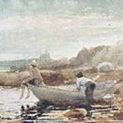 Boys On The Beach Art Print by Winslow Homer