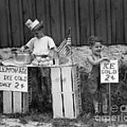 Boys Selling Lemonade, C.1940s Art Print