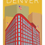 Denver Brown Palace/gold Art Print