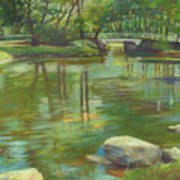 Bradford Ma College Pond Art Print