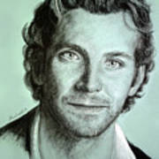 Bradley Cooper Charcoal Portrait Art Print