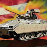 Bradley M2 Fighting Vehicle Art Print
