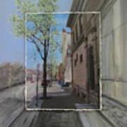 Brady Street With Tree Layered Art Print