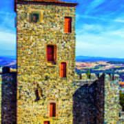 Braganca Castle Tower Art Print