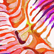 Brain Coral Abstract 6 In Orange Art Print