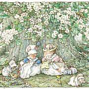 Brambly Hedge - Hawthorn Blossom And Babies Art Print