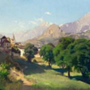 Bramois. Wallis. 1861 Art Print